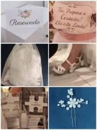 Título do anúncio: Casamento: Placas / Pétalas / Acessório noiva /  Sandália branca / mini difusor