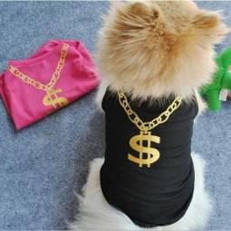 Roupas para Pet camiseta vestuário Ostentação para gatos e cães cachorros pequenos