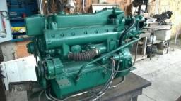 Motor mercedes 352 diesel marinizado, rabeta, reversor