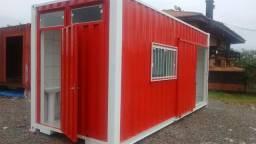 Lanchonete conteiner, com banheiro, pastelaria, batataria food truck 15m2 (0001)
