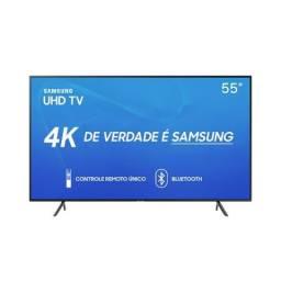 Smart TV Led 55 Samsung RU7100 Ultra HD 4K Modelo 2019 com bluetooth Lacrada c NF