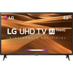 Smart TV Led 49'' LG 49UM7300 Ultra HD 4K Thinq AI Conversor Digital Wi-Fi + Brinde
