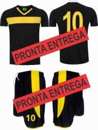 Jogo de camisa e calçao futebol a pronta entrega 9f06a42ab599d