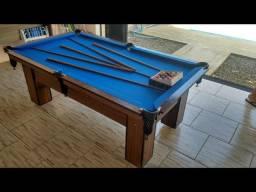 Título do anúncio: Mesa de Sinuca e Bilhar Cor Malaga Tecido Azul Modelo CHAA8947