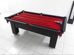 Mesa de Redes Tecido Vermelho Bordas Pretas e Cor Preta Modelo PHJ2132