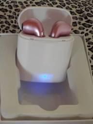 Fone de ouvido bluetooth i7sTWS rosa dourado