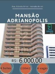 Alugo Mansão Adrianópolis 4 suítes + escritório (semi-mobiliado)