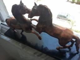 Par De Cavalos Em Bronze Escultura Europeia Belíssima