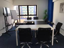 Aluguel por hora ou período - sala comercial equipada