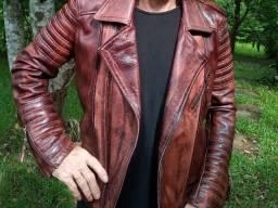 Jaqueta de couro masculino M