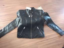 Jaqueta de couro  tamanho :P