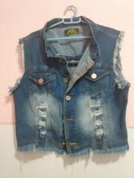 Colete Jeans Feminino Tamanho M