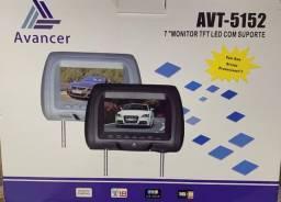 """Encosto de cabeça para carro com tela 7"""" Polegadas (Modelo AVT-5152) Avancer"""