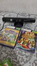 Kinect xbox 360 + 2 jogos