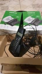 Lote Telefone sem fio intelbras e 5 telefones com fio