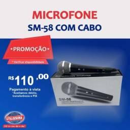 Microfone SM-58 com cabo ?