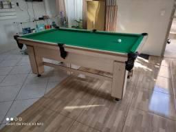 Mesa de Bilhar Charme Noce Naturale Tecido Verde Modelo OJJ02125