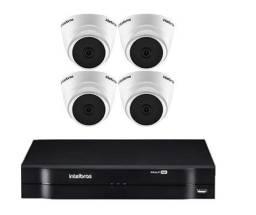 Kit Cftv Intelbras 4 Câmeras HD 720p Dvr 4 Canais Full HD