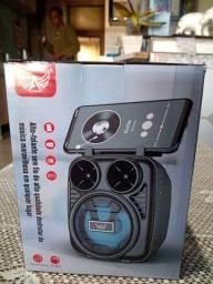 Título do anúncio: Caixinha de som com suporte de celular