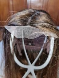 Lace front cabelo humano loiro mesclado 60cm