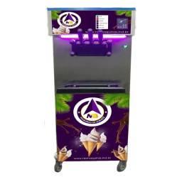 Título do anúncio: maquina de sorvete ou açai 3 bicos de rodinha
