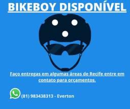 Entregador de bike disponível