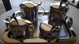 Título do anúncio: Conjunto para Chá e Café Forma Távola em Inox - 6 Peças