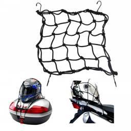 Título do anúncio: Rede Elástico De Carga Para Moto/ Capacete Aranha 35cm X 35cm