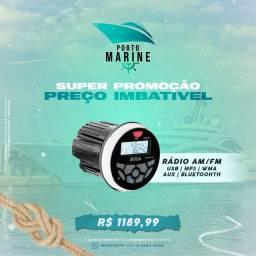 Rádio AM/FM para lanchas e barcos