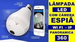 Lampada Câmera Espiã Segurança 360º Wifi Panorâmica V380