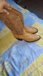 Bota texana importadaCouro de avestruz  TONY LAMA.