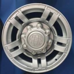 Título do anúncio: Rodas F250 prata aro 16 novas em até 10x de R$350,00 no cartão de crédito