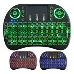 Título do anúncio: MINI TECLADO/MOUSE USB sem fio, Iluminado,  Smart tv, Tv Box, PC . Ac. CARTÕES.<br><br>
