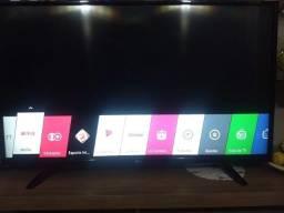 """Smart TV Led 43"""" LG Full HD com Wi-Fi e conversor digital integrado. Excelente estado"""