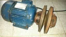 Motor trifásico com polia de rotação