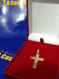 Pingente ouro 18 Kilates Cruz 4,6 gramas