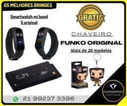 Relógio Smartwatch Mi Band 5 Lacrado Promoção + Ótimo Brinde!! Entrega Grátis RJ