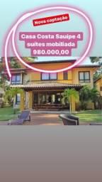 Costa Sauípe Alto Padrão 4 suítes mobiliada 980 mil