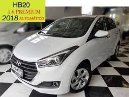 Hyundai - HB20 1.6 Premium - Automático - Apenas 6700km - 2018