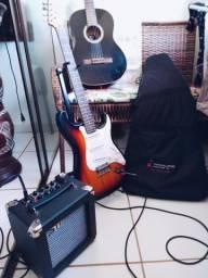 Guitarra Strato Vogga + Cubo Staner Kute G2 comprar usado  Aparecida de Goiânia