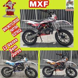 Mini Moto Cross Motor 49cc/2t Partida Elétrica