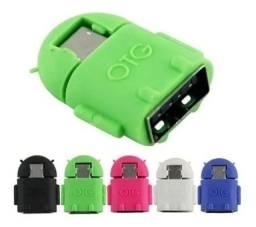 Adaptador Otg Micro Usb V8 Para Usb Femea Pendrive Celular<br><br>