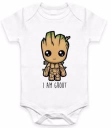 Body personalizado com herois da marvel vingadores - bebe groot