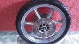 Roda Dianteira Complet Com Disco E Pneu Vulcan 750 Original