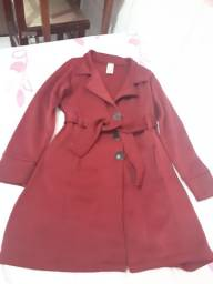 Vende-se casaco de frio vermelho usado tamanho M