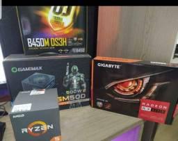 Título do anúncio: Vendo Pc Gamer Ryzen 5 2600 16 gb Rx 570 4gb