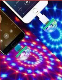 Título do anúncio: Mini discoteca com controle de voz portátil festa globo usb