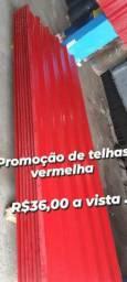 Telha prime lite linha leve vermelha valor 36,00 o metro somos de Manaus