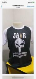 camisas e máscaras personalizadas Bolsonaro