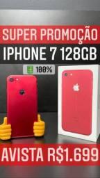IPHONE 7 VITRINE 128GB VERMELHO